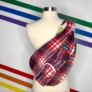 NEW Kavu plaid rope sling bag